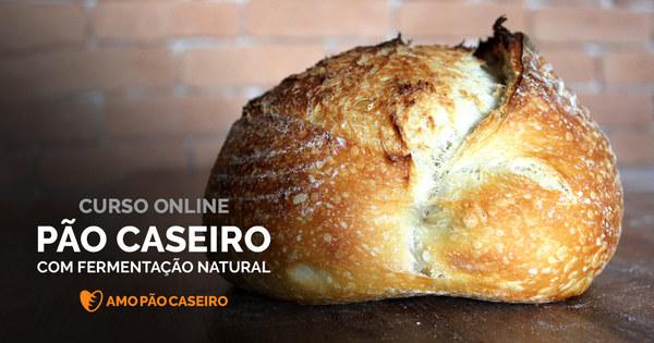 Pão Caseiro com Fermentação Natural