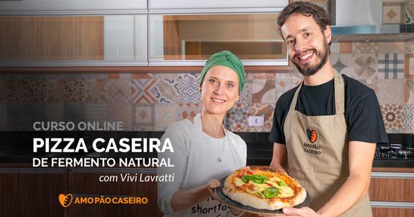 Pizza Caseira de Fermento Natural